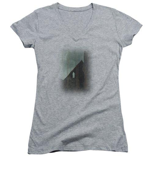 Celtic Ruins Women's V-Neck T-Shirt