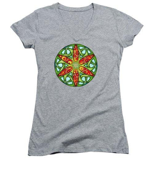 Celtic Summer Mandala Women's V-Neck