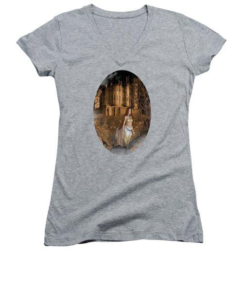 Centaur Castle Women's V-Neck T-Shirt