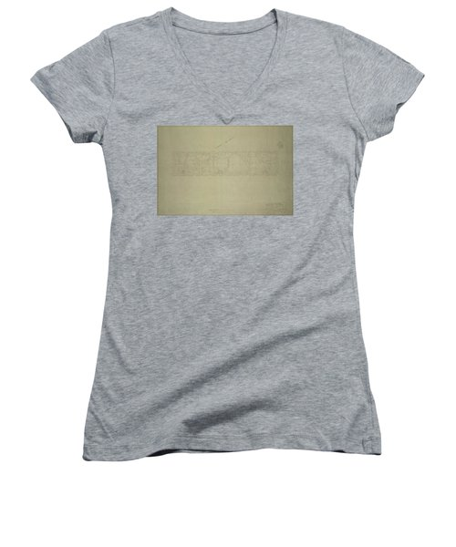 Central Park City Of New York Department Of Parks Map 1934 Women's V-Neck T-Shirt (Junior Cut) by Duncan Pearson