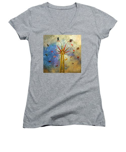 Centre Of The Universe Women's V-Neck (Athletic Fit)