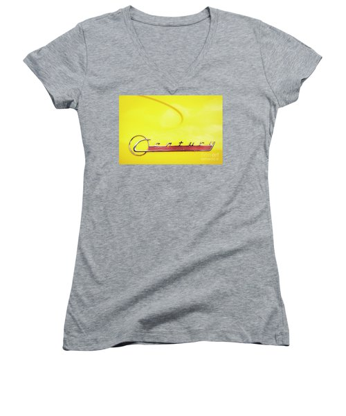 Women's V-Neck T-Shirt (Junior Cut) featuring the photograph Century by Dennis Hedberg