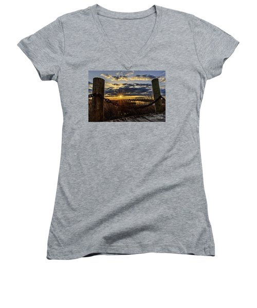 Chained View Women's V-Neck