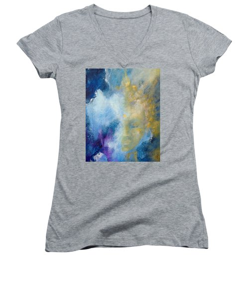 Chakra Women's V-Neck T-Shirt (Junior Cut) by Dina Dargo