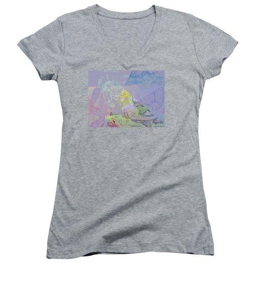 Chalkboard Women's V-Neck T-Shirt