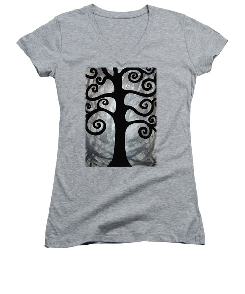 Chaos Tree Women's V-Neck (Athletic Fit)