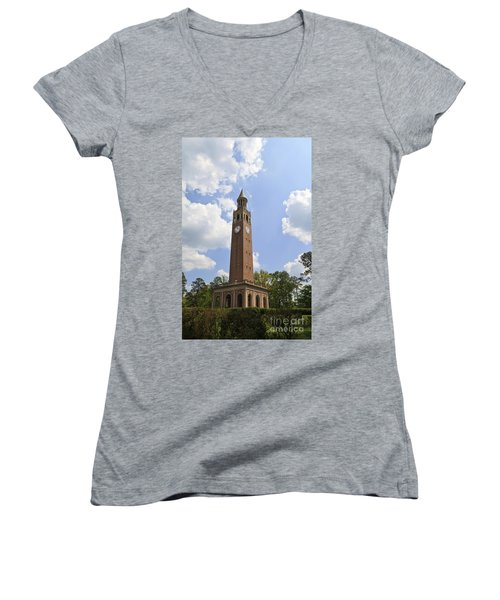 Chapel Hill Bell Tower Women's V-Neck (Athletic Fit)