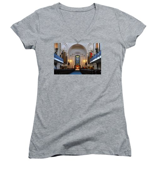 Chapel Interior - Us Naval Academy Women's V-Neck T-Shirt