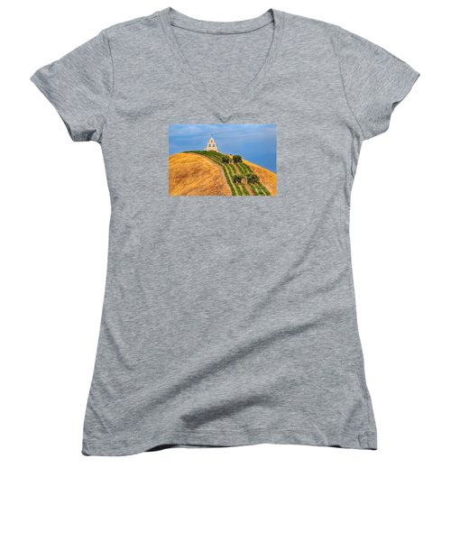 Chapel On The Hill Women's V-Neck T-Shirt