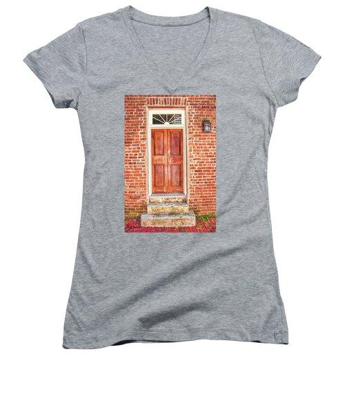 Charleston Doors 1 Women's V-Neck T-Shirt