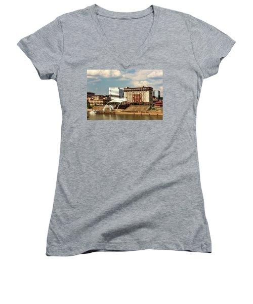 Charleston West Virginia Women's V-Neck T-Shirt (Junior Cut) by L O C