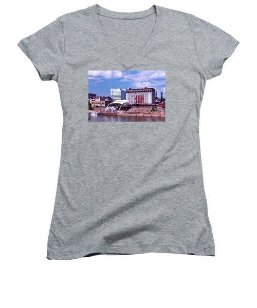 Charleston West Virginina Women's V-Neck T-Shirt (Junior Cut) by L O C