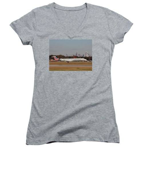 Charlotte Douglas International Airport 17 Women's V-Neck T-Shirt