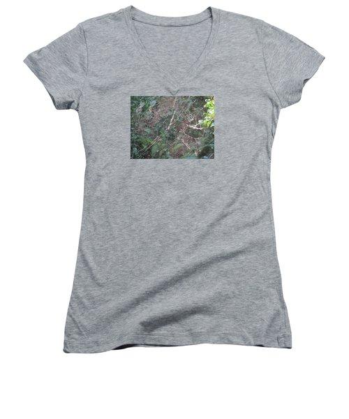 Charlotte's Web Women's V-Neck T-Shirt (Junior Cut) by Charlotte Gray
