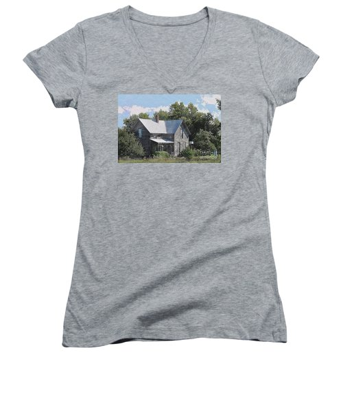 Charming Country Home Women's V-Neck T-Shirt (Junior Cut) by Liane Wright