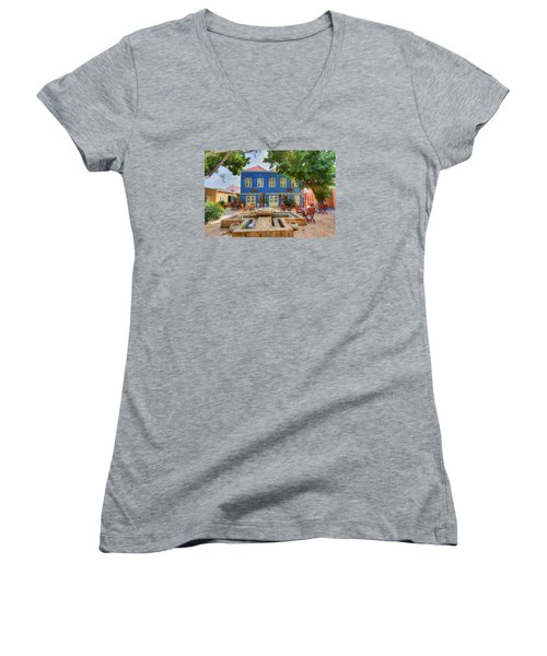 Charming Courtyard Women's V-Neck (Athletic Fit)
