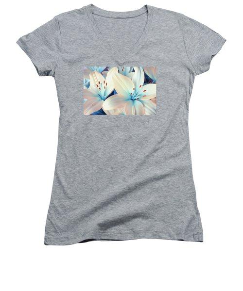 Charming Elegance Women's V-Neck T-Shirt