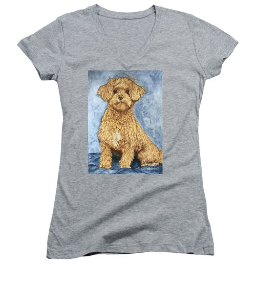 Chase The Maltipoo Women's V-Neck (Athletic Fit)