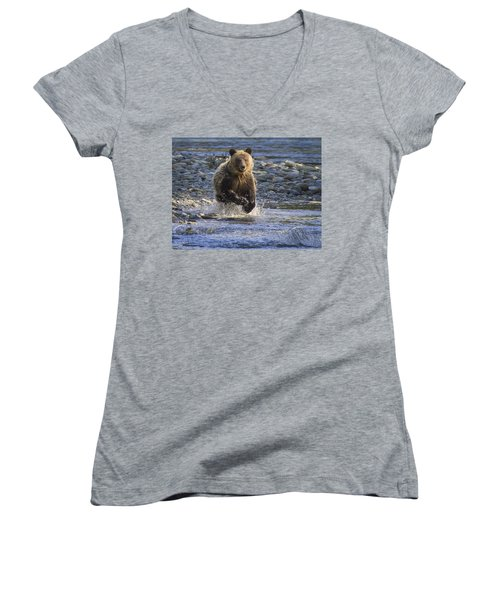 Chasing Salmon Women's V-Neck (Athletic Fit)