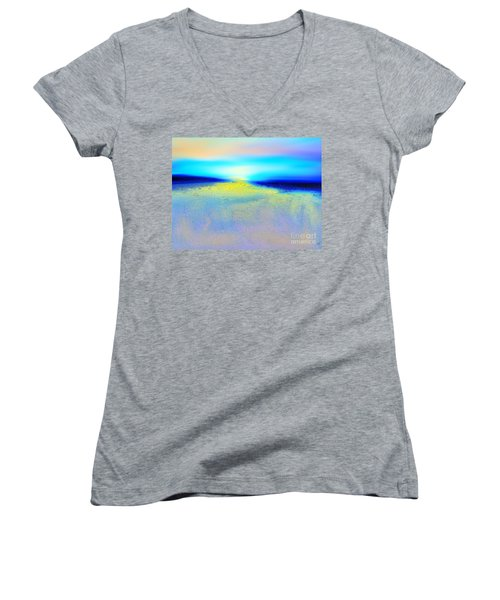 Chasing The Sun  Women's V-Neck T-Shirt
