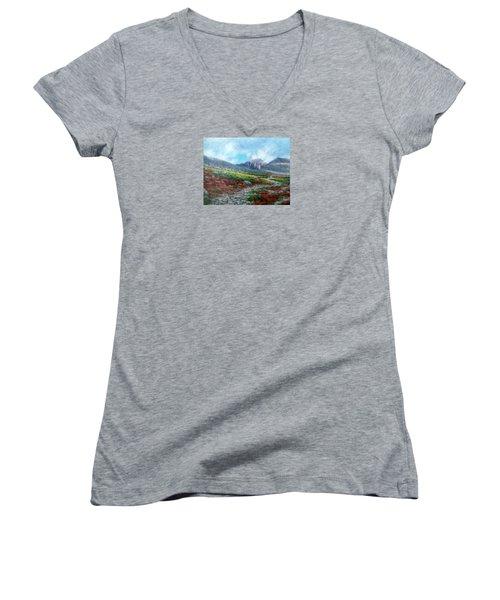 Chasm Lake Trail Women's V-Neck T-Shirt