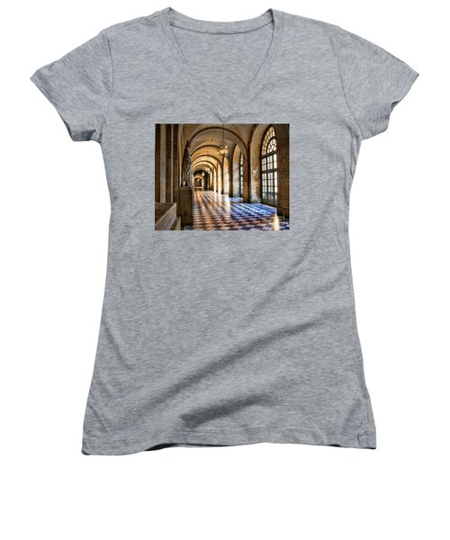 Chateau Versailles Interior Hallway Architecture  Women's V-Neck