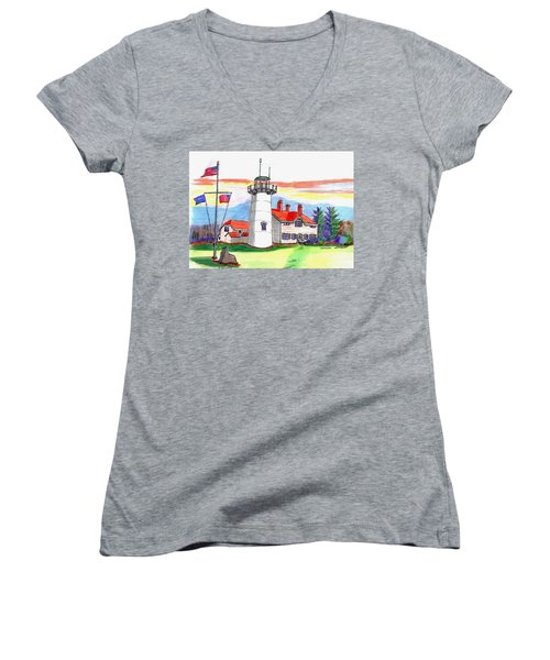 Chatham Lighthouse Women's V-Neck T-Shirt