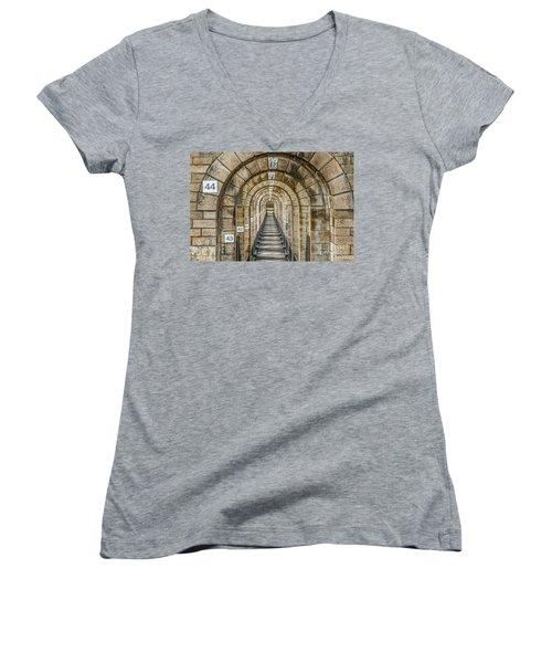 Chaumont Viaduct France Women's V-Neck