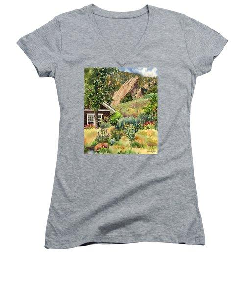 Chautauqua Cottage Women's V-Neck T-Shirt