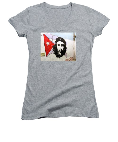 Che Guevara Women's V-Neck (Athletic Fit)