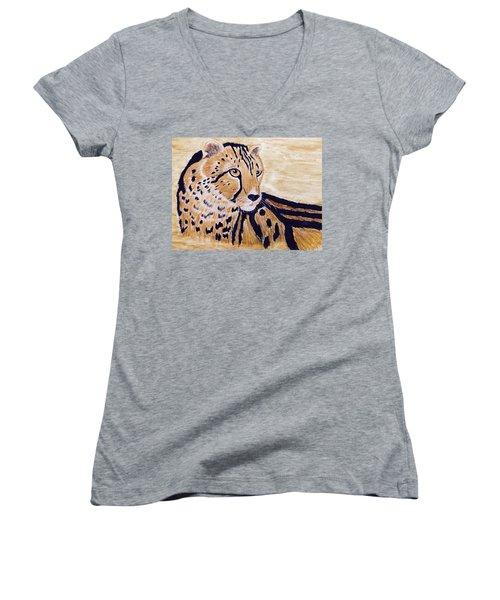 Cheeta Women's V-Neck