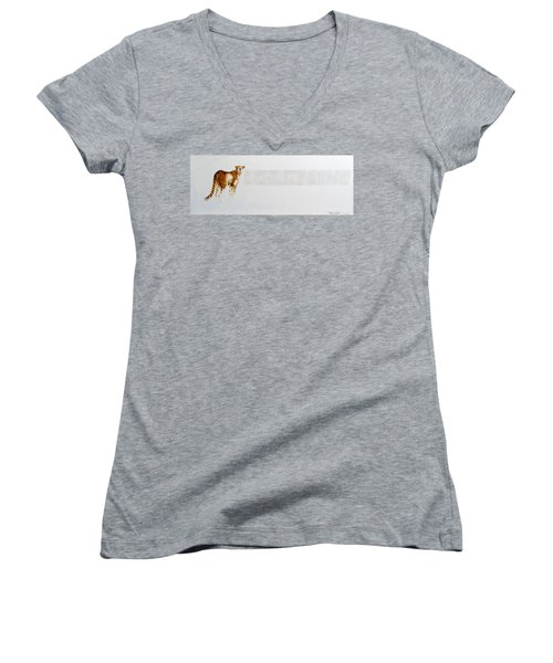Cheetah And Zebras Women's V-Neck (Athletic Fit)