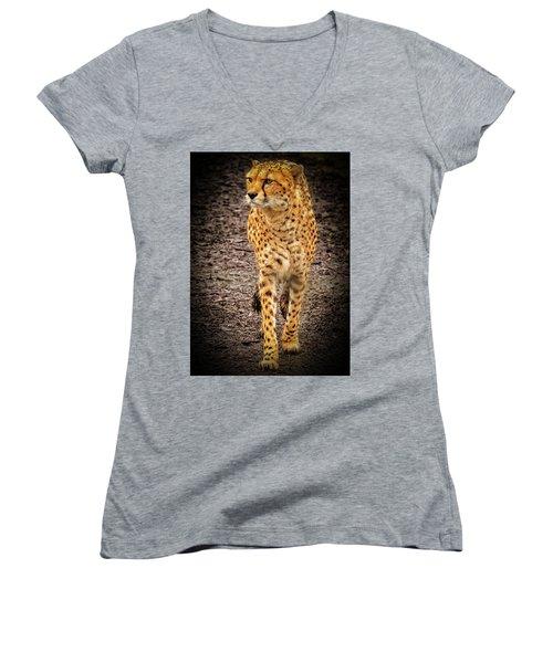 Cheetah Women's V-Neck (Athletic Fit)