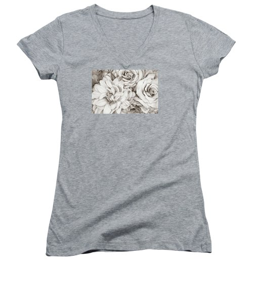 Chelsea's Bouquet - Neutral Women's V-Neck