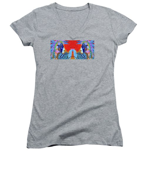 Closeup Cherokee Dancer Cup Women's V-Neck T-Shirt