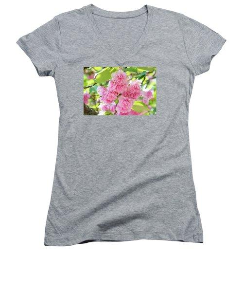 Cherry Blossom Cluster Women's V-Neck