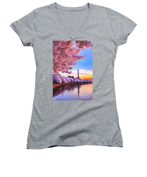 Cherry Blossom Festival  Women's V-Neck (Athletic Fit)
