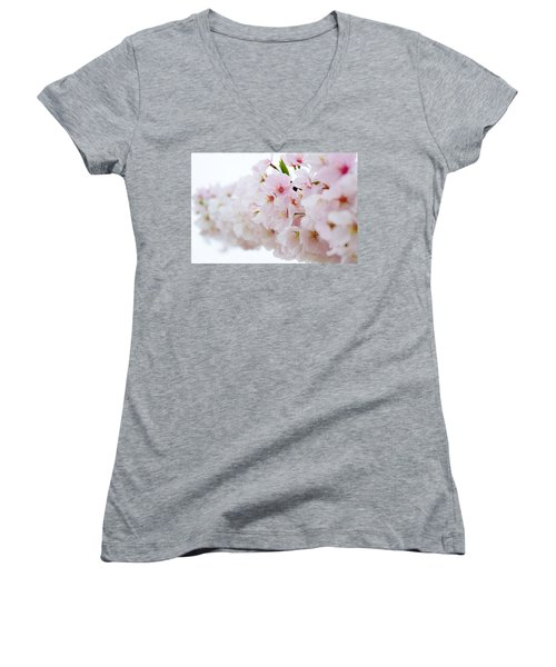 Cherry Blossom Focus Women's V-Neck