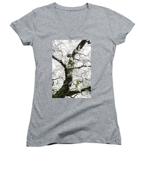 Cherry Blossoms 119 Women's V-Neck (Athletic Fit)