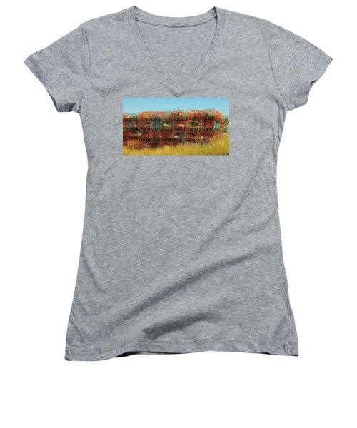Chesapeake Bay Crabbing Women's V-Neck T-Shirt