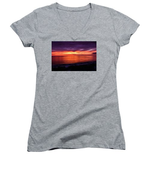 Chesapeake Bay Sunset Women's V-Neck