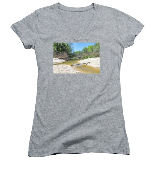 Women's V-Neck T-Shirt featuring the photograph Chesapeake Tributary by Charles Kraus