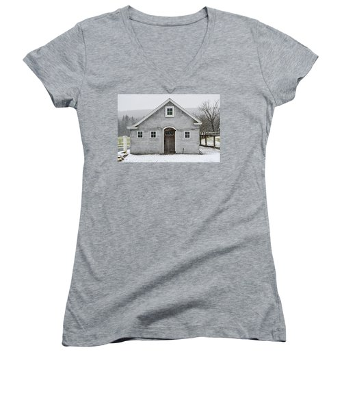 Chester County In The Snow Women's V-Neck
