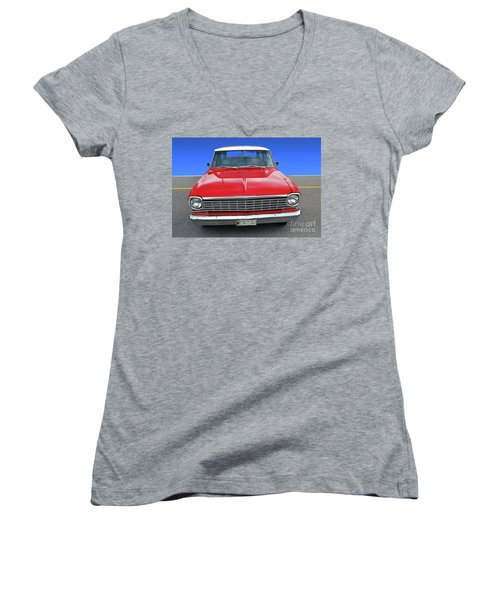 Chev Wagon Women's V-Neck (Athletic Fit)