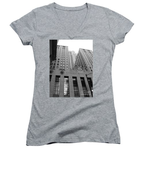 Chicago Board Of Trade Women's V-Neck (Athletic Fit)
