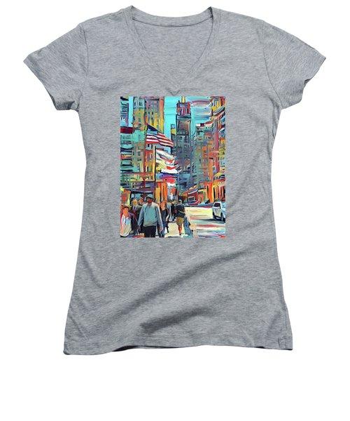 Chicago Colors 5 Women's V-Neck T-Shirt
