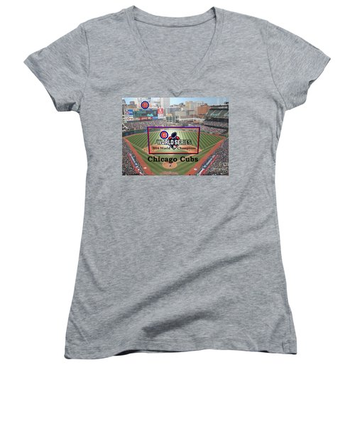 Chicago Cubs - 2016 World Series Champions Women's V-Neck