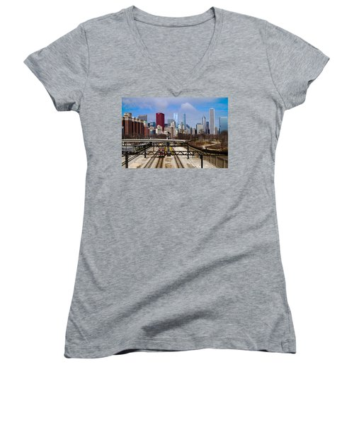 Chicago Metro Women's V-Neck T-Shirt