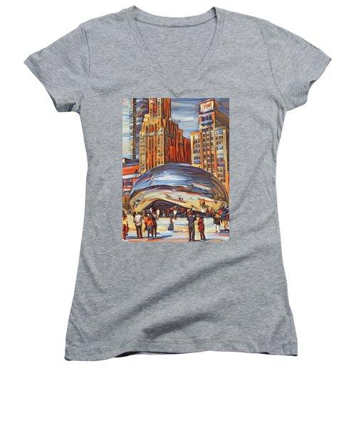 Chicago Millennium 2 Women's V-Neck T-Shirt