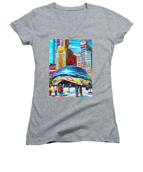 Chicago Millennium  Women's V-Neck T-Shirt